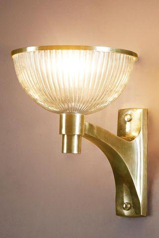 Astor Glass Wall Lamp Brass