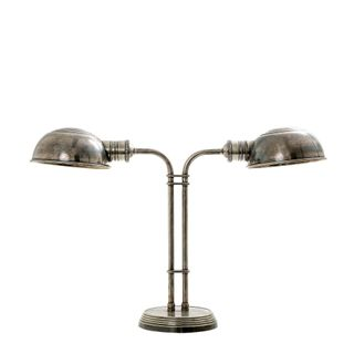 Picardy Table Lamp in Antique Silver