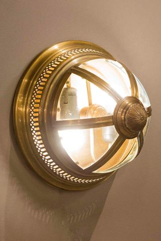 Walter Wall Lamp in Antique Brass