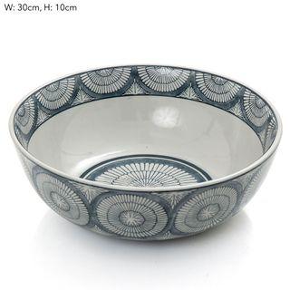 Joss Bowl 30x30x10cm Blue White
