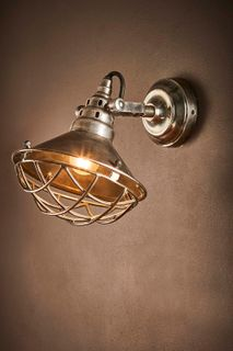 Twain Wall Lamp in Silver
