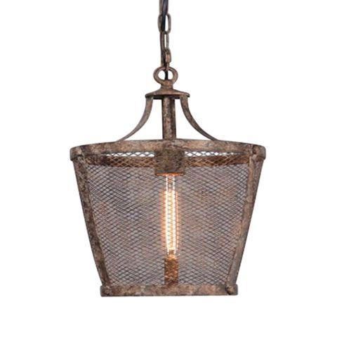 Fabio Large Hanging Lamp in Rustic