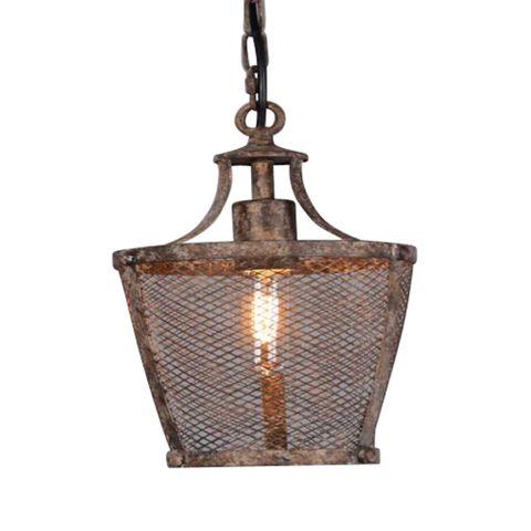 Fabio Medium Hanging Lamp in Rustic