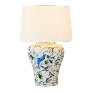 Raffles Bird Ceramic Table Lamp Base White