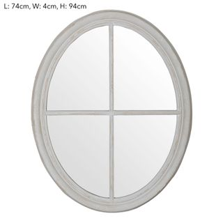 Hamptons Oval Mirror 74x94