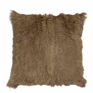 Petra Goat Fur Cushion Beige