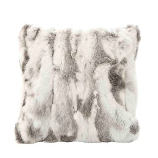 Siberian Fur Cushion Grey