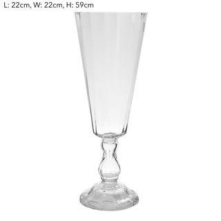 Pedestal Vase H:48cm - Clear (M)