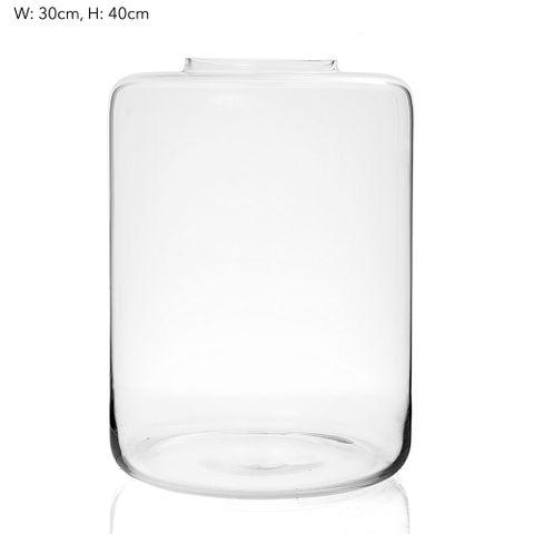 Amalfi Vase Large H40cm - Clear