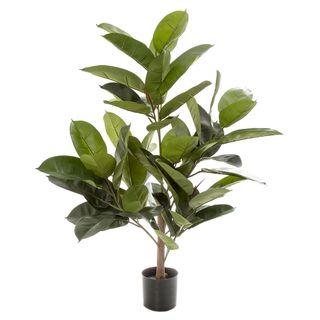 96cm Rubber Plant Tree w/58 Lvs