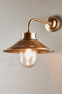 Sandhurst Outdoor Wall Light Antique Brass