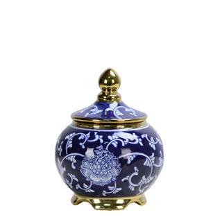 Zaffre Orient Jar with Lid