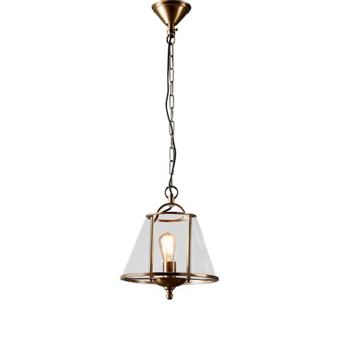 Cotton Tree hanging lamp in ant brass