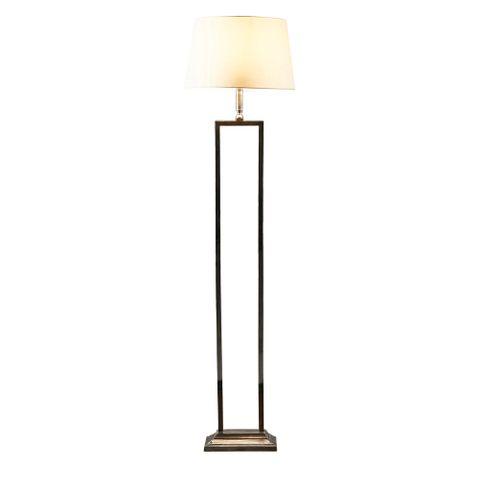 Hamilton floor lamp in antique silver
