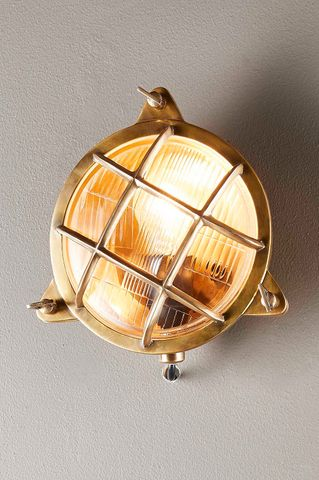Palmerston Wall Lamp Outdoor in Brass