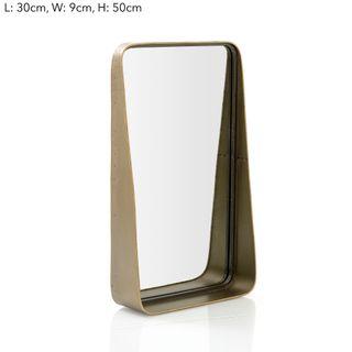 Maharani Med Brass Table Mirror w/Ledge