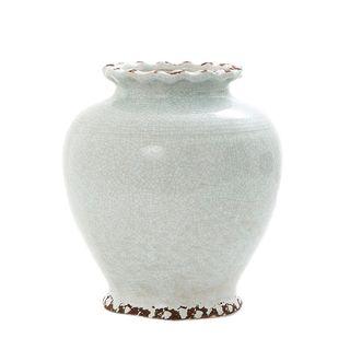 Ice Aqua Round Vase Small