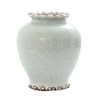 Ice Aqua Round Vase Medium