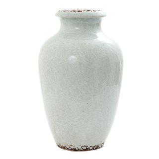 Ice Aqua Round Vase Tall