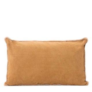 Tibetan Suede Cushion Rectangle Camel