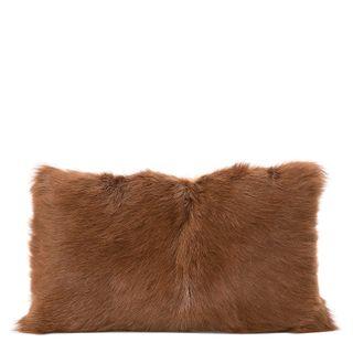 Petra Goat Fur Cushion Rectangle Camel