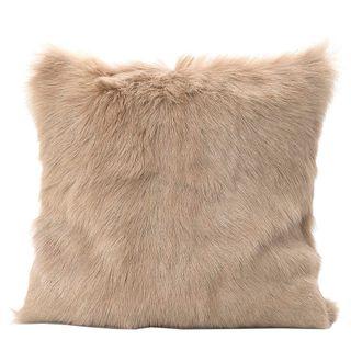 Petra Goat Fur Cushion Cream