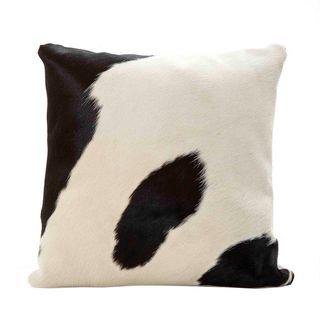 Ndebele Fur Cushion Black & White