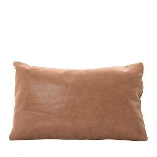 Tibetan Leather Foil Cushion Rectangle