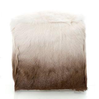 Petra Ombre Pouf 51x51x45 Brown Ivory