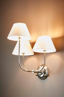 Trilogy 3 Arms Wall Lamp Base in Silver
