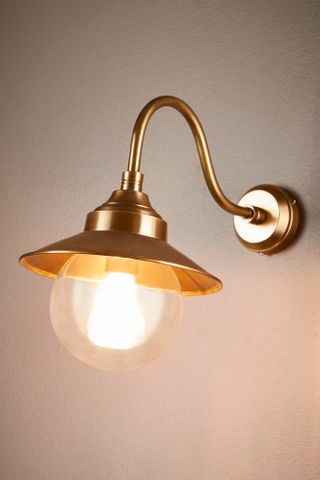 Zermatt wall lamp in antique brass