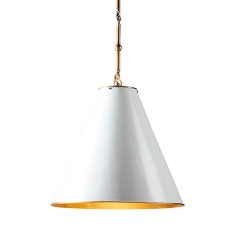 Monte Carlo Hanging Lamp White and Brass