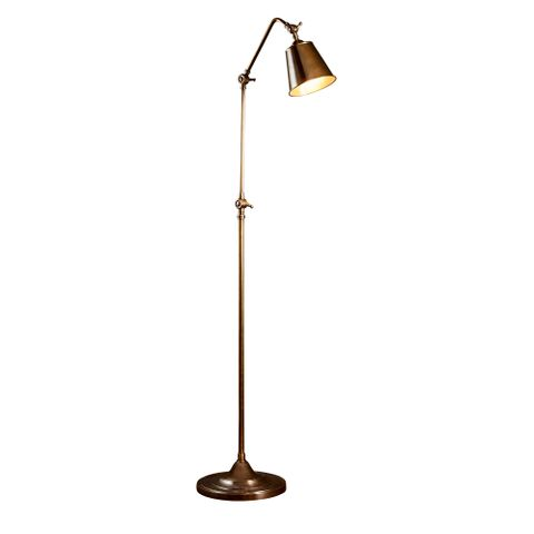 Newbury Floor Lamp Antique Brass