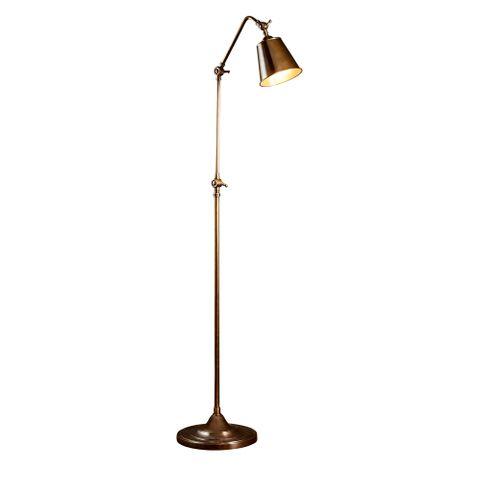 Newbury Floor Lamp Antique Brass