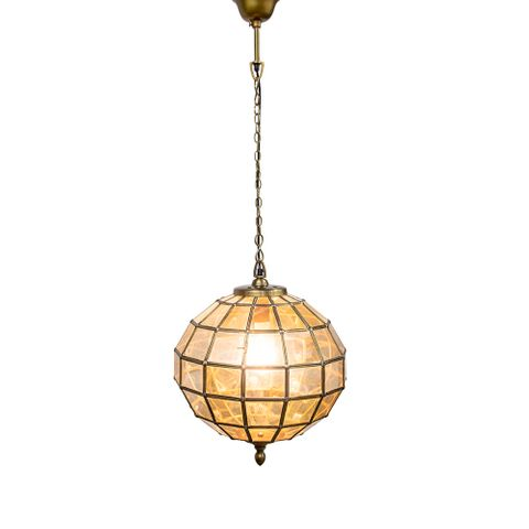 Prince Albert Small Hanging Lamp Brass