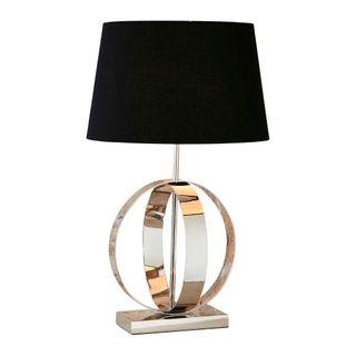 Sicily Table Lamp Base Shiny Nickel