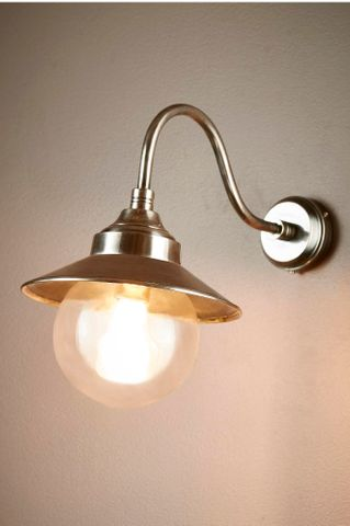 Zermatt Outdoor Wall Lamp in Antique Silver