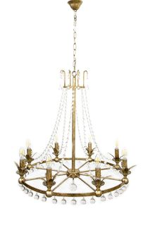 Rococo Chandelier Iron in Ant Silver