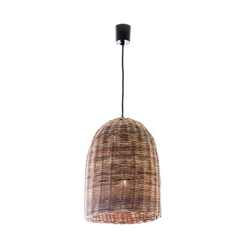 Rattan Bell Hanging Lamp Small