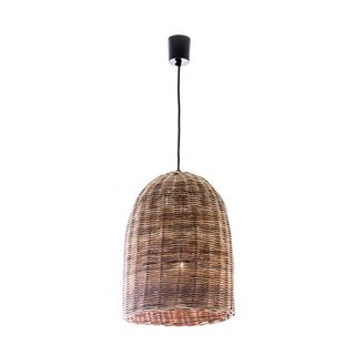 Rattan Bell Ceiling Pendant Small Natural