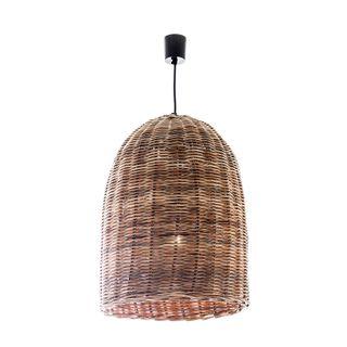 Rattan Bell Hanging Lamp Large
