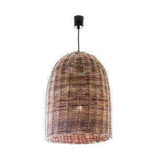 Rattan Bell Ceiling Pendant Large Natural