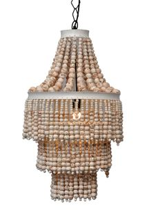 Bangalow Beaded Chandelier Natural