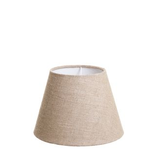 XS Taper Lamp Shade (10x6x7 H) - Dark Natural Linen - Linen Lamp Shade with E27 Fixture