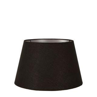 Linen Taper Lamp Shade Small Black with Silver Lining