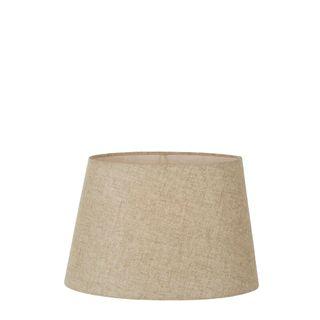 Linen Oval Lamp Shade XS Dark Natural