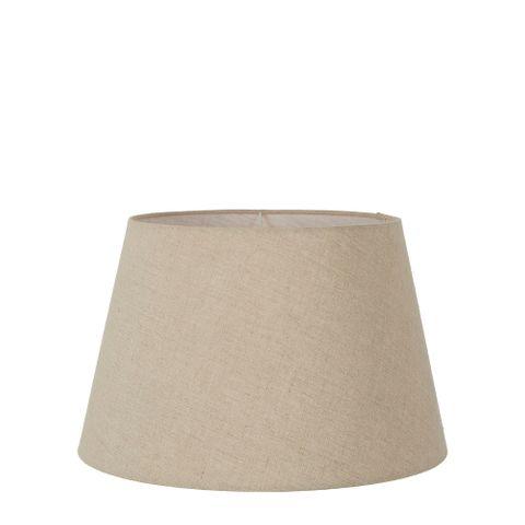 Small Taper Lamp Shade (12x8x9 H) - Dark Natural Linen - Linen Lamp Shade with E27 Fixture