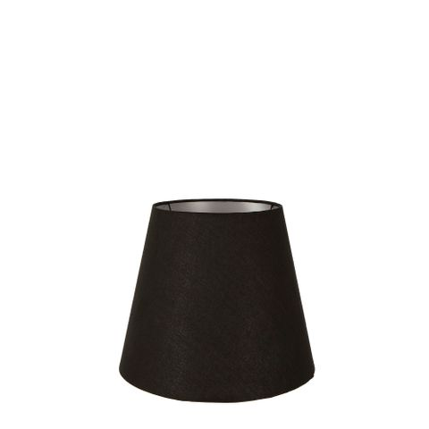 XXS Taper Lamp Shade (7x5x6 H) - Black with Silver Lining - Linen Lamp Shade with E27 Fixture