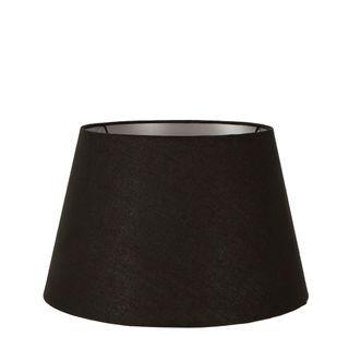 Linen Taper Lamp Shade Medium Black with Silver Lining