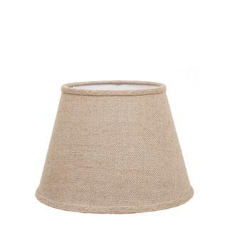 Medium Taper Lamp Shade (14x9x9.5 H) - Jute - Jute Lamp Shade with Collar and E27 Fixture